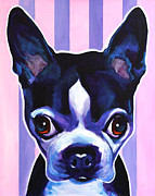 Alicia Vannoy Call Framed Prints - Boston - Missy Framed Print by Alicia VanNoy Call