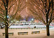 Boston New Year Skate Print by Susan Cole Kelly
