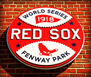 Red Sox Nation Posters - Boston Red Sox World Series Champions 1918 Poster by Stephen Stookey