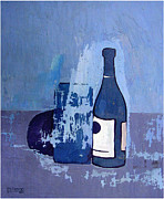 Box Wine Paintings - Bottle Box Eggplant by Robert Holewinski