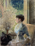 Cane Posters - Bow Window Poster by Giuseppe Nittis