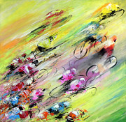 Cyclisme Posters - Breaking Away Poster by Miki De Goodaboom