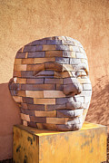 Statue Portrait Art - Brick Head by Chris Smith