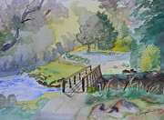 Warren Thompson Art Prints - Bridge Near Enniskerry Ireland  Print by Warren Thompson