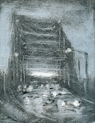 Printmaking Mixed Media - Bridge Traffic by Steve Dininno