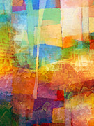 Interpretation Mixed Media Prints - Bright Mood Print by Lutz Baar