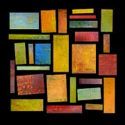 Abstracted Digital Art Prints - Building Blocks Four Print by Michelle Calkins
