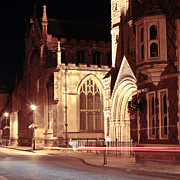 Abbey Road Prints - Bury St Edmunds Night Scene Print by Tom Gowanlock