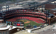 Baseball Photographs Prints - Busch Memorial Stadium Print by Thomas Woolworth