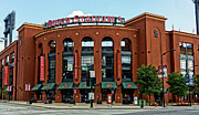 Baseball Stadiums Framed Prints - Bush Stadium Home of the St Louis Cardinals Framed Print by Greg Kluempers