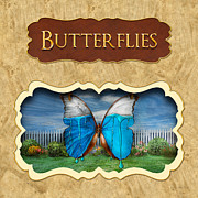Flight Prints - Butterflies button Print by Mike Savad