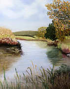 Print Pastels Originals - By the River by Sarah Dowson