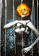 Spray Paint Art Paintings - Came Back Haunted by Bobby Zeik