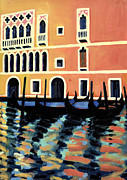 Blue Purple Paintings - Canal Grande I  by Sara Hayward