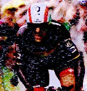 Trial Mixed Media - Cancellara going for the finish by Wheely Art