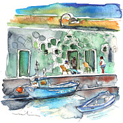 Fishermen Drawings - Candelaria 04 by Miki De Goodaboom