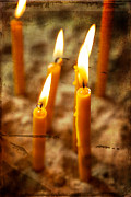 Holidays And Celebrations Prints - Candels 1 Print by Dobromir Dobrinov