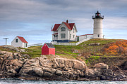 Clarence Holmes - Cape Neddick Nubble Lighthouse I