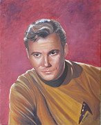 Trekkie Framed Prints - Capt. James T. Kirk Framed Print by Kathie Camara