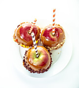 Candy Prints - Caramel Apples Print by Edward Fielding