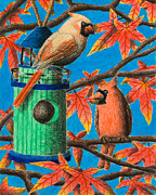 Jeanette Kabat - Cardinals in Fall