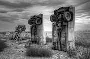 Nebraska. Posters - Carhenge Automobile Art 3 Poster by Bob Christopher