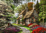 Flint Prints - Carnation Cottage Print by Dominic Davison
