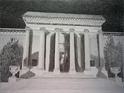 Washington Dc Drawings - Carnegie Institute of Washington by Terri Wyatt