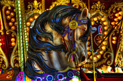 Carousel Horse Framed Prints - Carousel Beauty Waiting For A Rider Framed Print by Bob Christopher