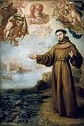 Franciscan Saints Posters - CarreÑo De Miranda, Juan 1614-1685 Poster by Everett