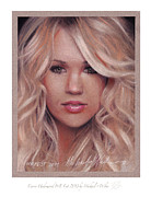 Celebrity Pastels Framed Prints - Carrie Underwood Framed Print by Michael  Weber