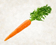 Healthy Eating Paintings - Carrot by Danny Smythe