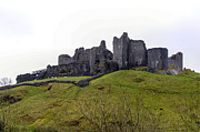Wales Framed Prints Posters - Castell Carreg Cennen Castle Poster by Paul Cannon