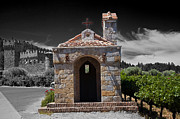 Calistoga Framed Prints - Castello di Amorosa Framed Print by Joe Fernandez