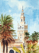 Seville Painting Prints - Catedral de Sevilla Print by Bill Holkham