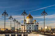 Russian Cross Photo Framed Prints - Cathedral of Christ the Savior 3 - Featured 3 Framed Print by Alexander Senin