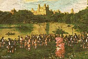 18th Century Drawings - Central Park Meeting - New York Oil by Peter Art Print Gallery  - Paintings Photos Posters