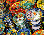 Italian Shopping Posters - Ceramics of Vietri sul Mare  Poster by Jennie Breeze