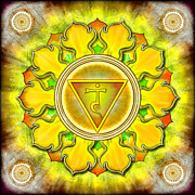 Meditation Digital Art Metal Prints - Chakra Manipura Series 2012 Metal Print by Dirk Czarnota
