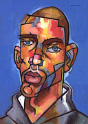 Cubist Paintings - Channing by Douglas Simonson