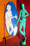 Allegories Paintings - Charity or Greed Marble or Bronze Vanitas and the Mirror by Scott Parker