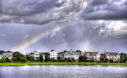 Charleston Houses Art - Charleston Rainbow Homes by Dustin K Ryan