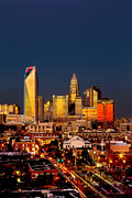 Charlotte Photo Prints - Charlotte NC skyline photo with downtown Charlotte Print by Patrick Schneider