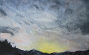 The Heavens Painting Originals - Chase away the Dark by Jane Autry