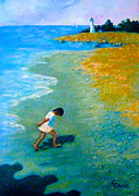 Running Pastels - Chasing Shadows - 4 by Gretchen Allen