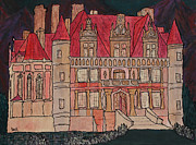 Prague Castle Paintings - Chateu  by Oscar Penalber