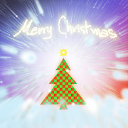 Blue Digital Art Originals - Chess Style Christmas Tree by Atiketta Sangasaeng