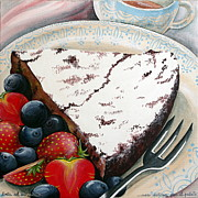 Cake Originals - Chocolate Cake With Fruits by Raffaella Di Vaio
