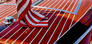 Michelle Calkins - Chris Craft with American Flag