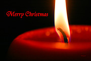 Candle Lit Prints - Christmas Candle Print by E B Schmidt